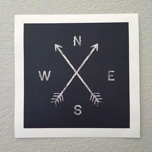 Zach Terrell Compass Art Print poster